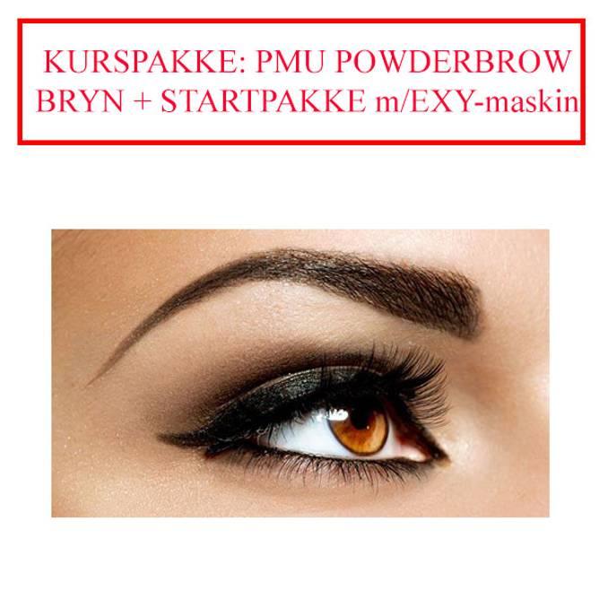 Bilde av KURSPAKKE: PMU POWDER BROWS BRYN + STARTPAKKE exy