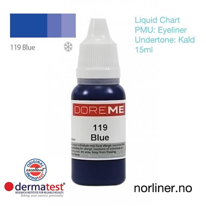 Bilde av MT-DOREME #119 Blue til PMU Eyeliner [Liquid