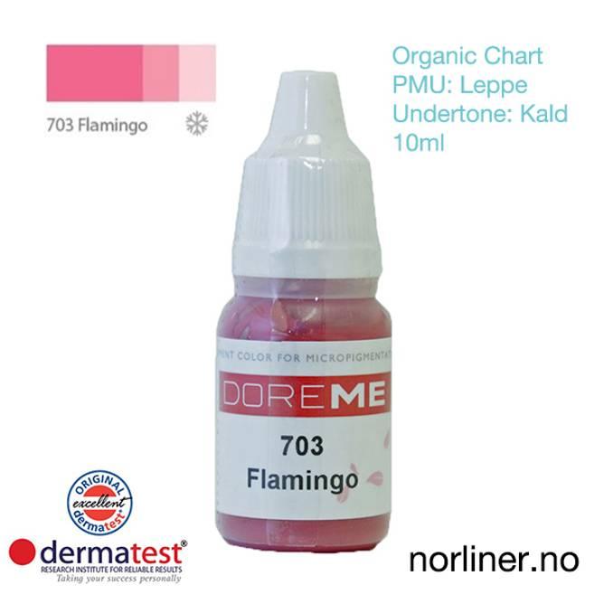 Bilde av MT-DOREME #703 Flamingo PMU Leppe [Organic Chart]