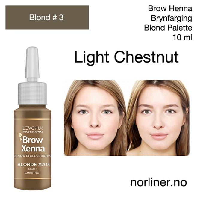 Bilde av LB-BH BROW XENNA Blond #3(203) Light Chestnut