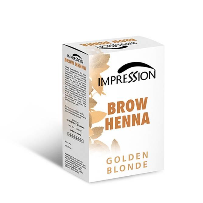Bilde av NL-IMPRESSION BROW HENNA Pulver Blonde Gylden 10g